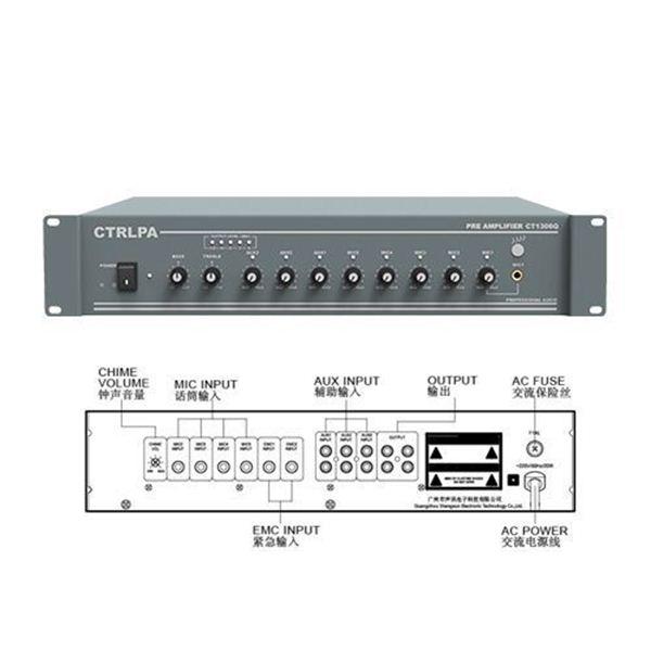 图片 CTRLPA  CT1306QC广播前置放大器一年保修