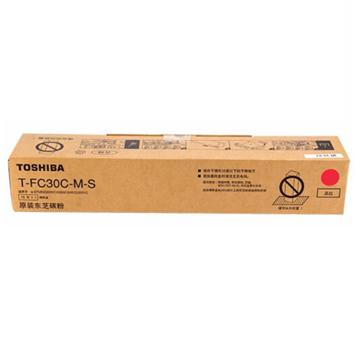 图片 东芝T-FC30C-M-S碳粉70g(适用于东芝2551c复印机墨盒)(红色)