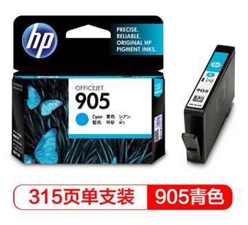 图片 惠普(HP)T6L89AA 905  原装墨盒315页(适用于HP 6960)青色 墨盒