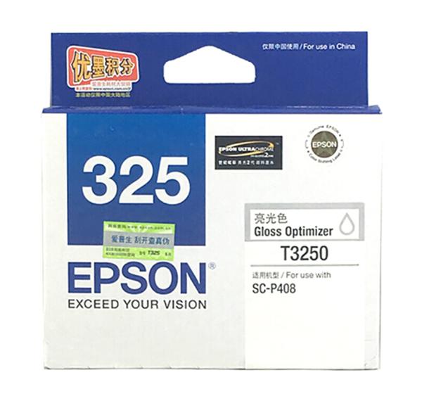 图片 爱普生T3250墨盒1100页(适用于爱普生P408打印机)亮光色